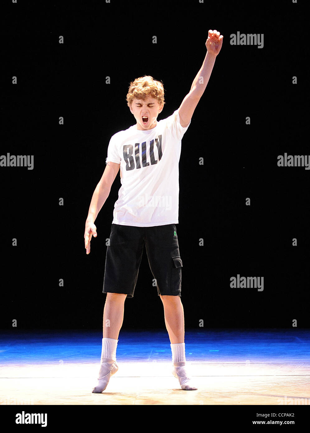 Oct 14, 2010 - Durham, North Carolina; USA -  Actor MICHAEL DAMESKI who is starring as Billy Elliot in the Broadway - Stock Image