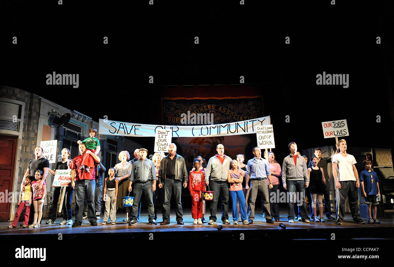 Oct 14, 2010 - Durham, North Carolina; USA -  Cast Members in the Broadway Musical BILLY ELLIOT The Musical that - Stock Image