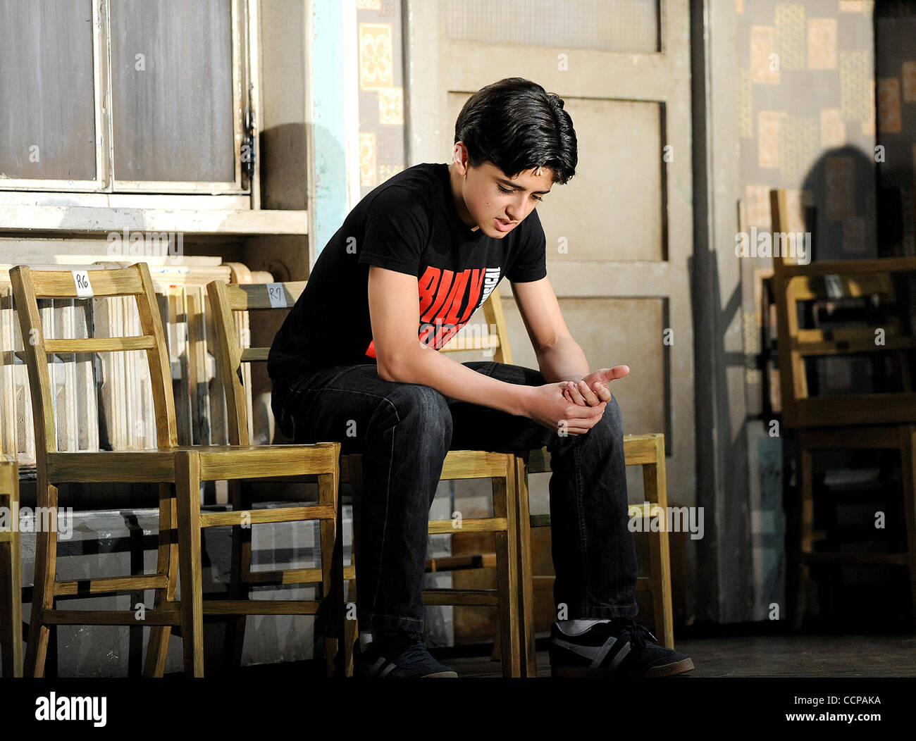 Oct 14, 2010 - Durham, North Carolina; USA -   Actor GIUSEPPE BAUSILIO who is starring as Billy Elliot for the Broadway - Stock Image
