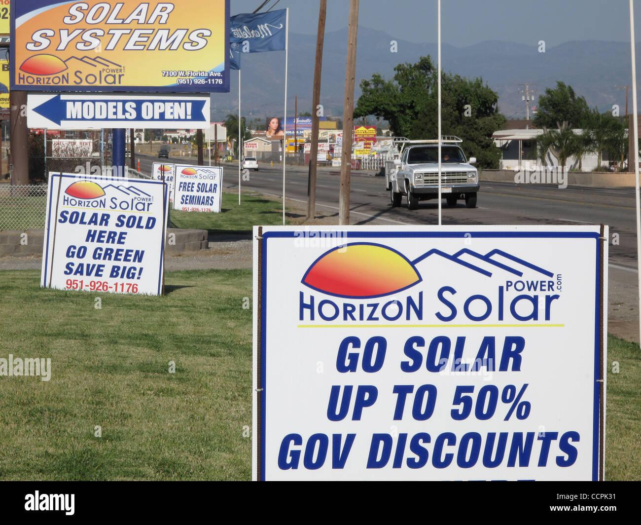 Oct 09, 2010 - Hemet, California, U S  - Signs draw