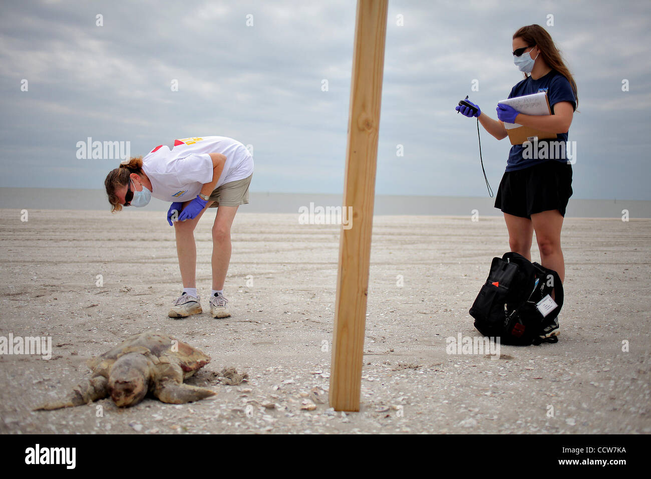 GULFPORT, MISSISSIPPI -- From left, Wendy Hachett, a first
