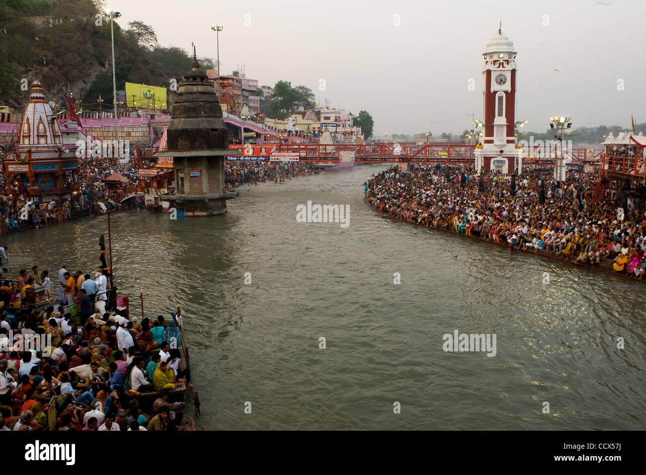 Apr 13, 2010 - India - The Kumbh Mela, world's largest religious festival, which is held every three years and - Stock Image