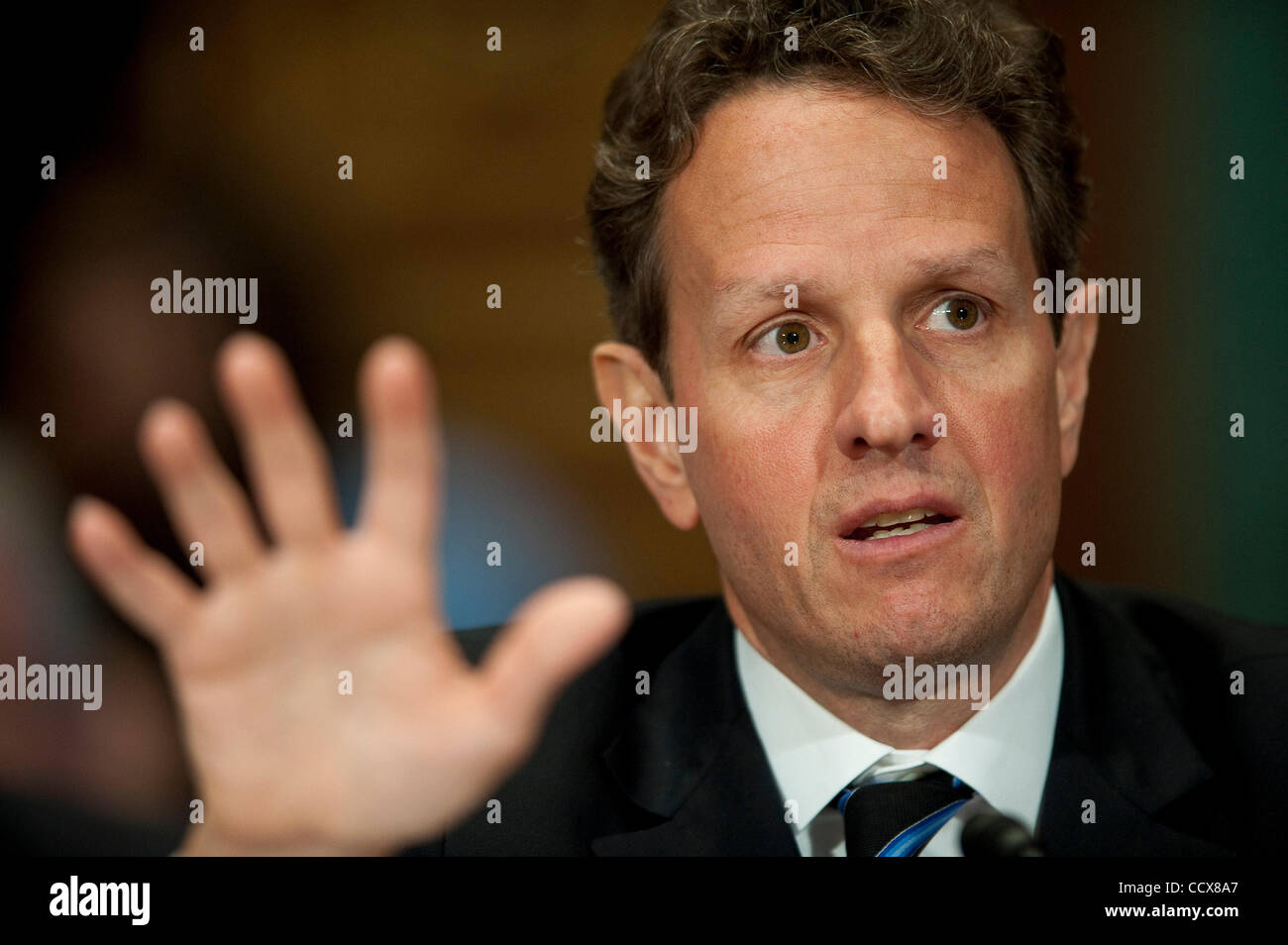 May 6,2010 - Washington, District of Columbia USA - U.S. Deparment of the Treasury Secretary Timothy Geithner appears - Stock Image
