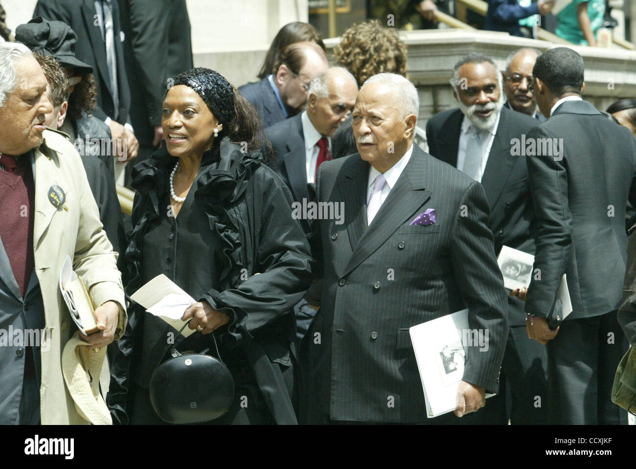 former mayor david dinkins leaving church family and friends say stock photo alamy 2