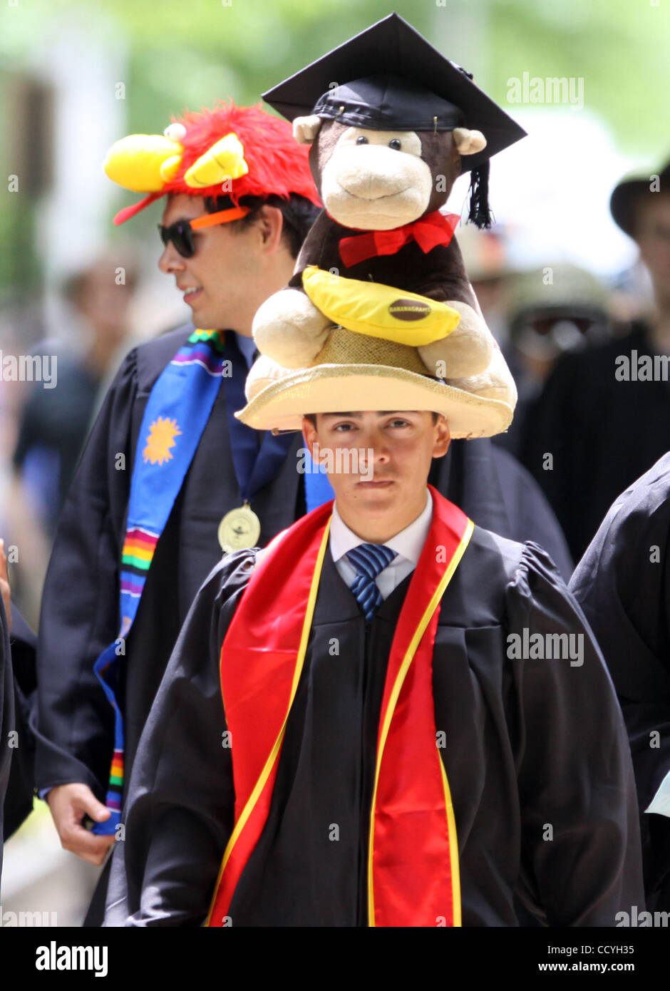 c12e5ada152b92 Yale Class Day Exercise tradition is graduates make hats the night before,  and wear it to class day. Bill Clinton spoke at Class Day Exercises of the  Yale ...