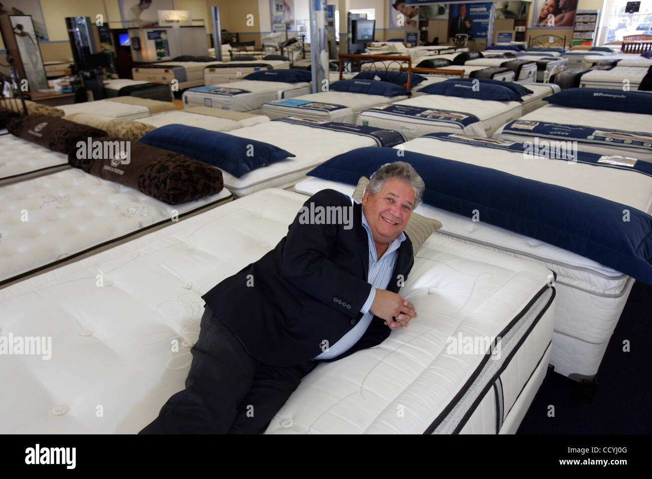 Larry Miller Founder Sit Sleep Stock Photos Larry Miller Founder
