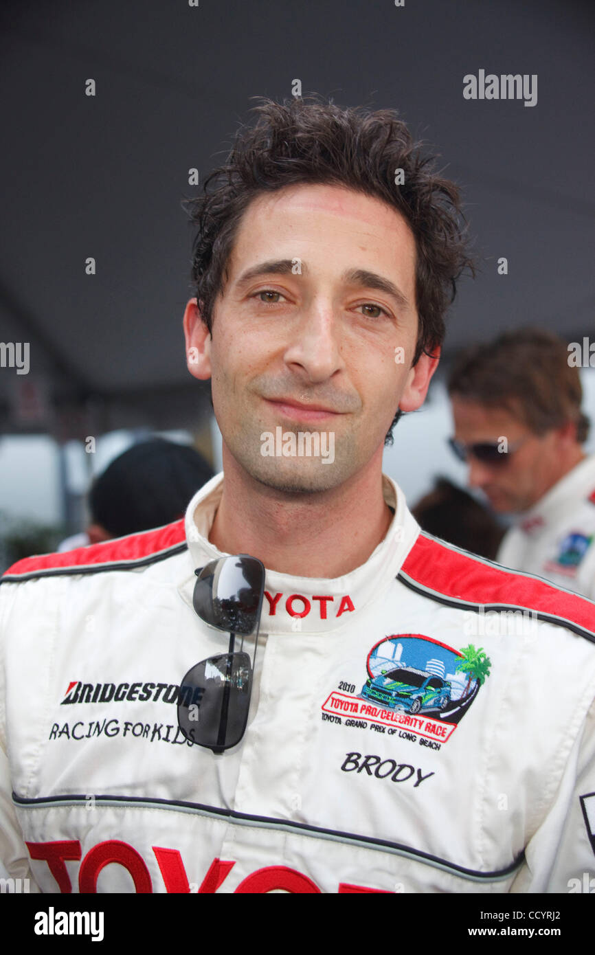 Apr 16, 2010 - Long Beach, California, USA - Actor ADRIEN BRODY in the Celebrity/Pro Race at the Long Beach Grand - Stock Image