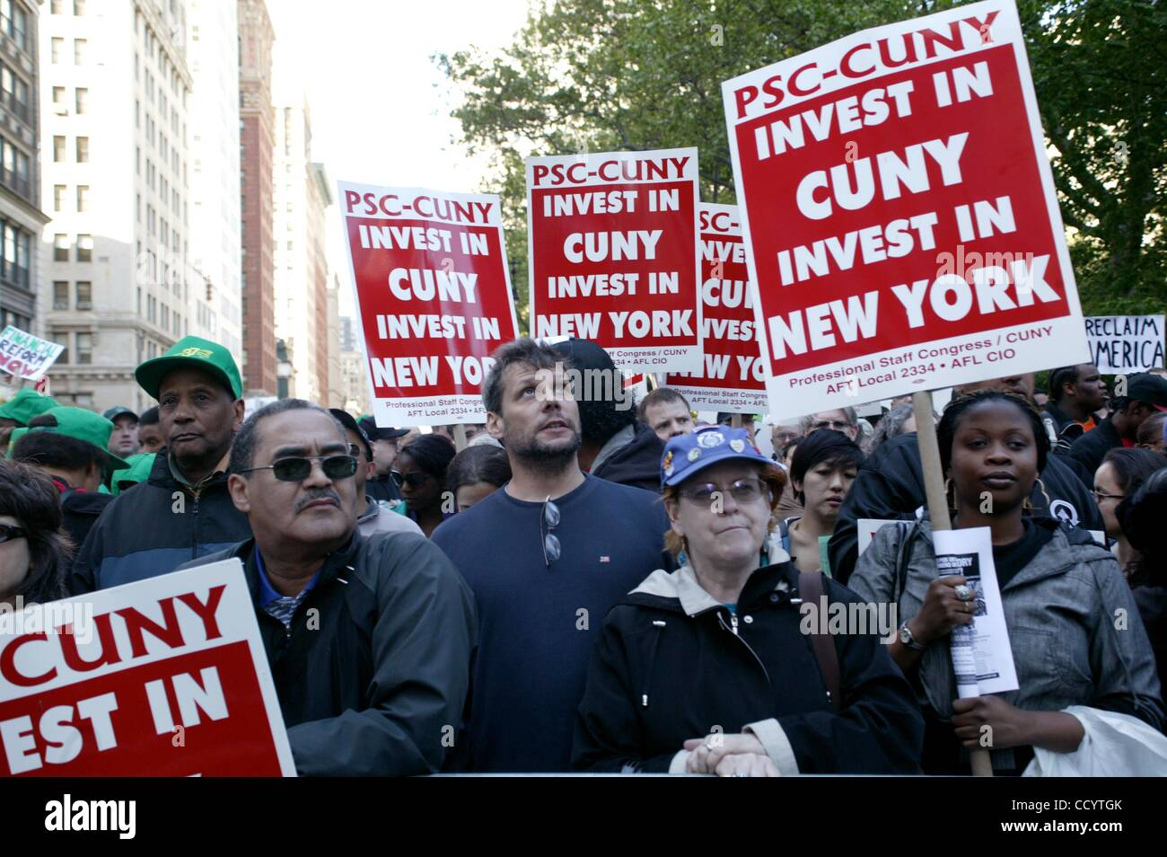 Apr. 29, 2010 - New York, New York, U.S. - Protest against  Wall Street and the Banking Industry.               - Stock Image