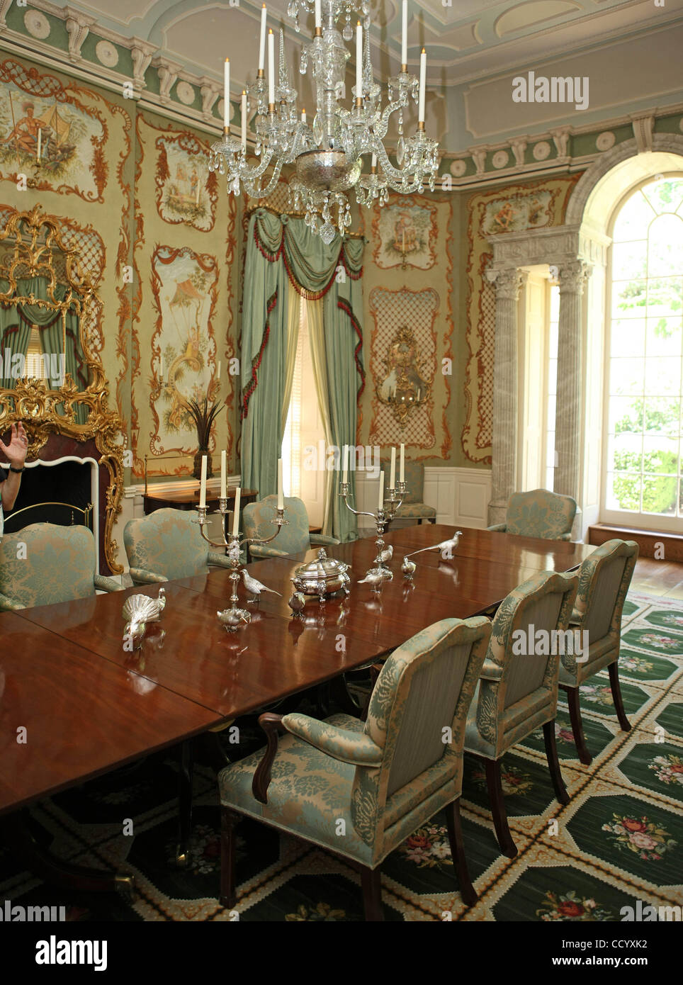 Dining Room Inside Albemarle Estate, A 45 Room Manse On 330 Acres In The  Rolling Hills Of Charlottesville, Va.