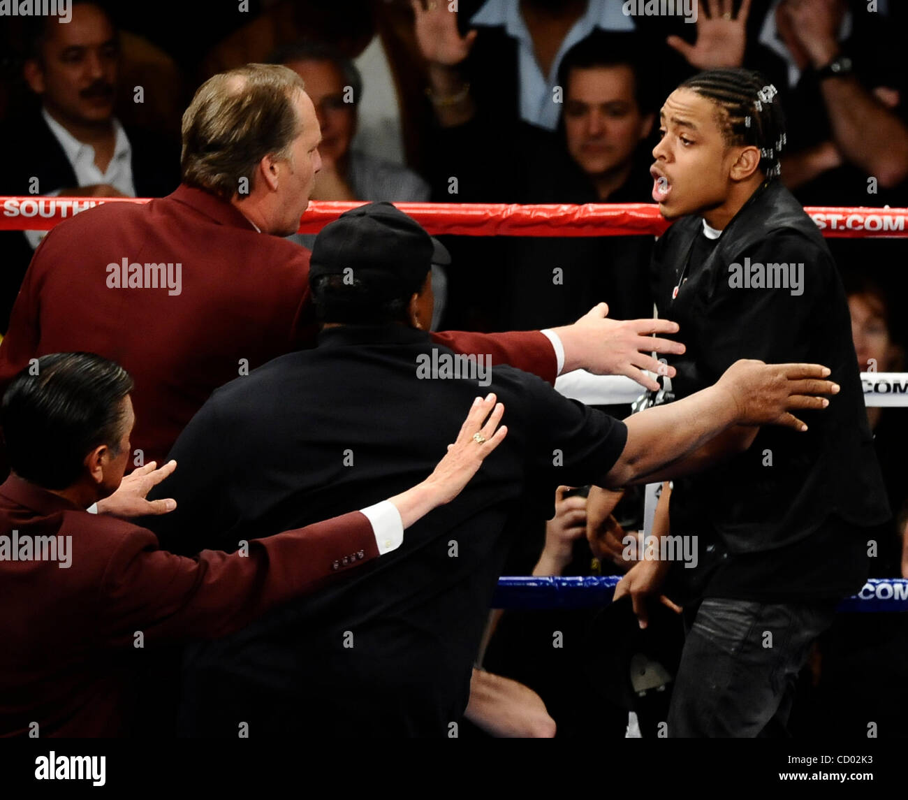 April 3,2010- Las Vegas NV., USA. Boxing Officials Toss