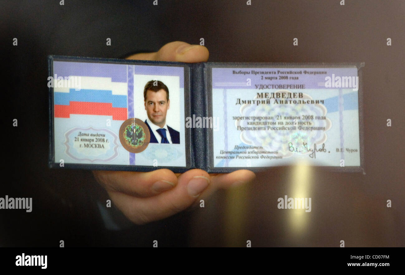 Apr 15, 2008 - Moscow, Russia - At the congress meeting, Russian President-elect DMITRY MEDVEDEV refused to join Stock Photo