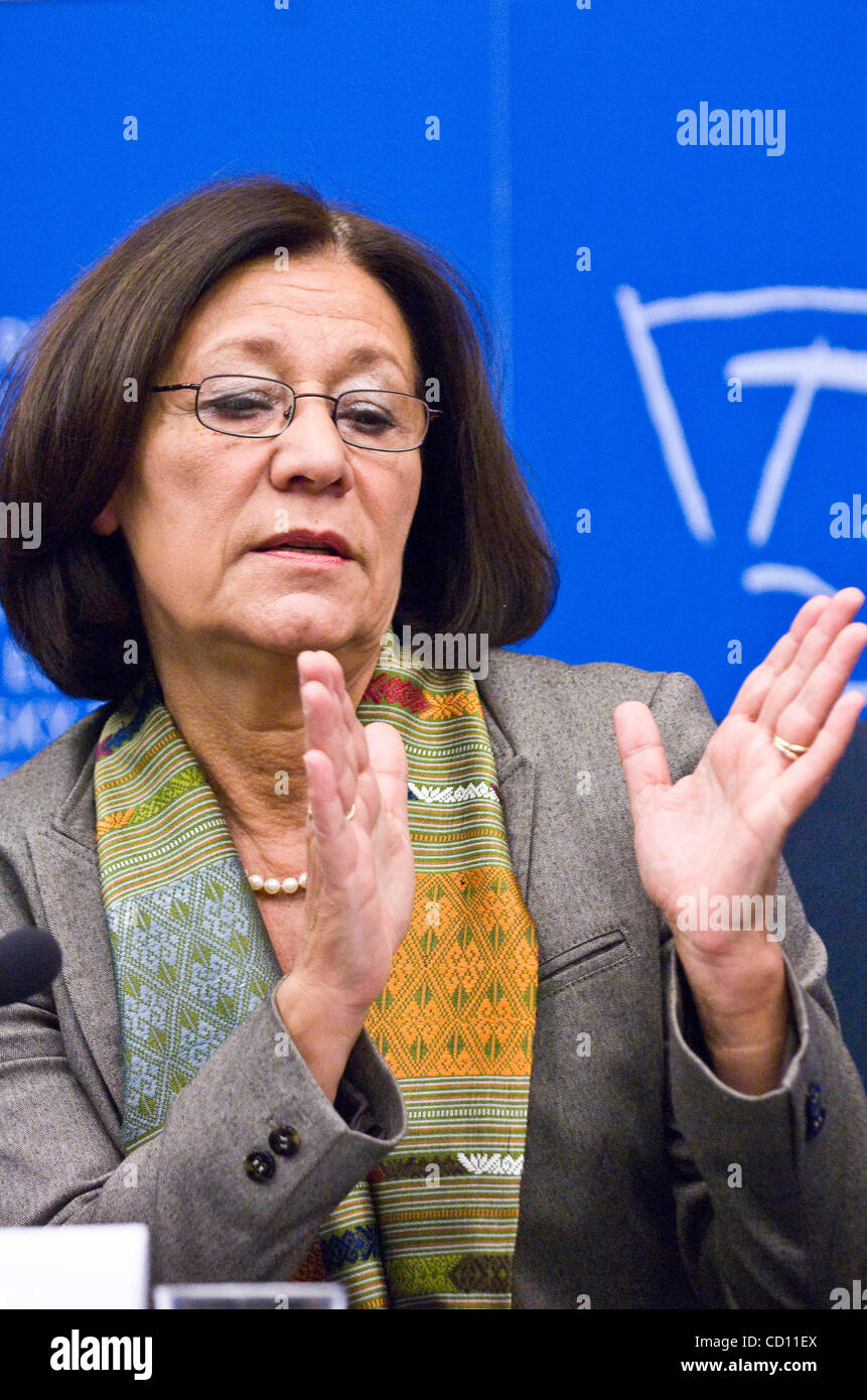 Member of European Parliament (MEP) Ewa Klamt attends  a news conference in European Parliament in Strasbourg , Stock Photo