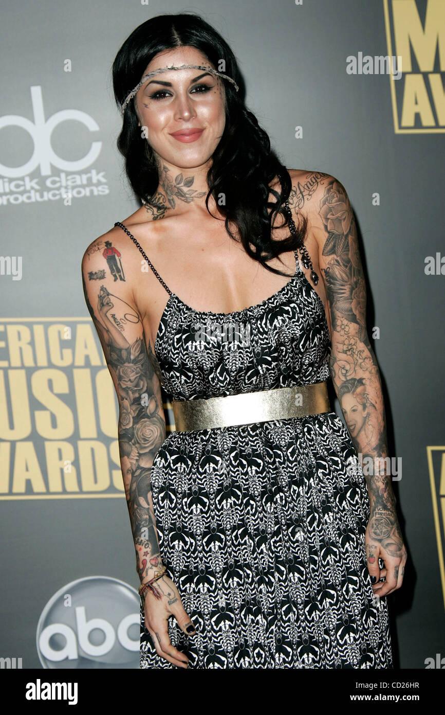 Nov 23 2008 Los Angeles California Usa Tattoo Artist Kat Von