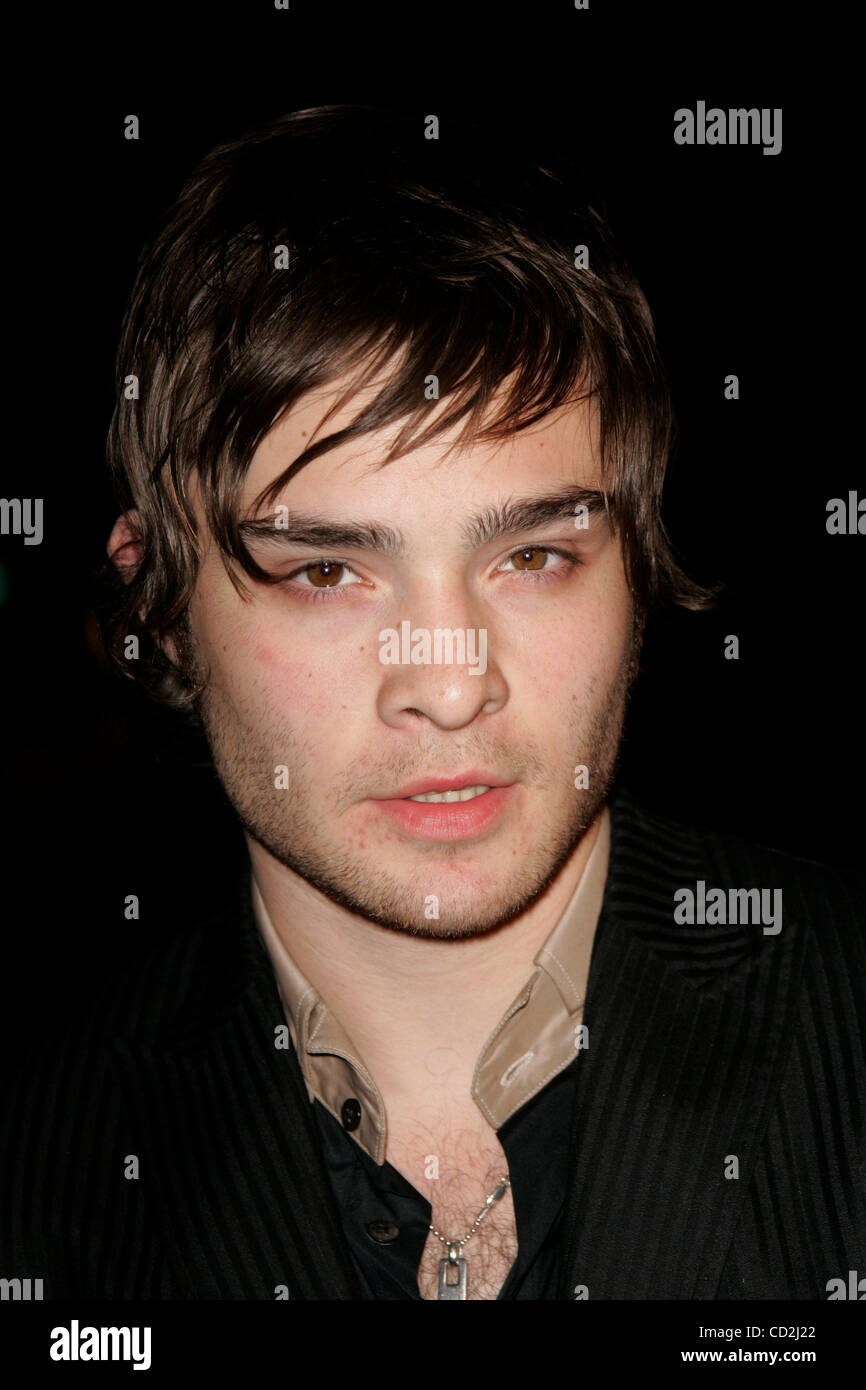 Mar 6, 2008 - West Hollywood, California, USA - Actor ED WESTWICK arriving at the 'Sleepwalking' Los Angeles Premiere Stock Photo