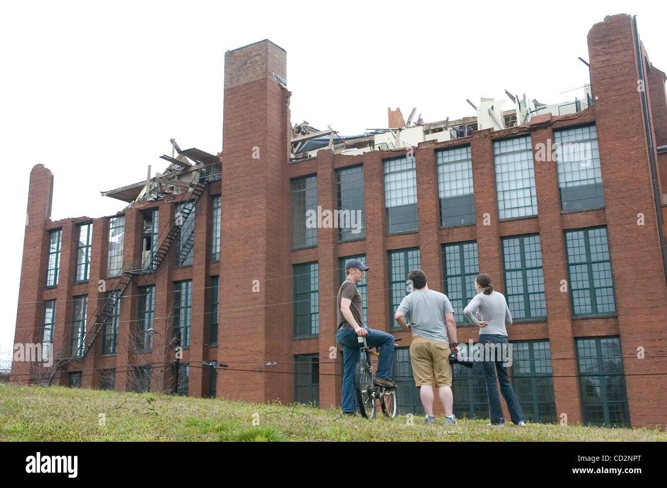 The Roof Of The Fulton Cotton Mill Lofts Was Ripped Away After An Stock Photo Alamy