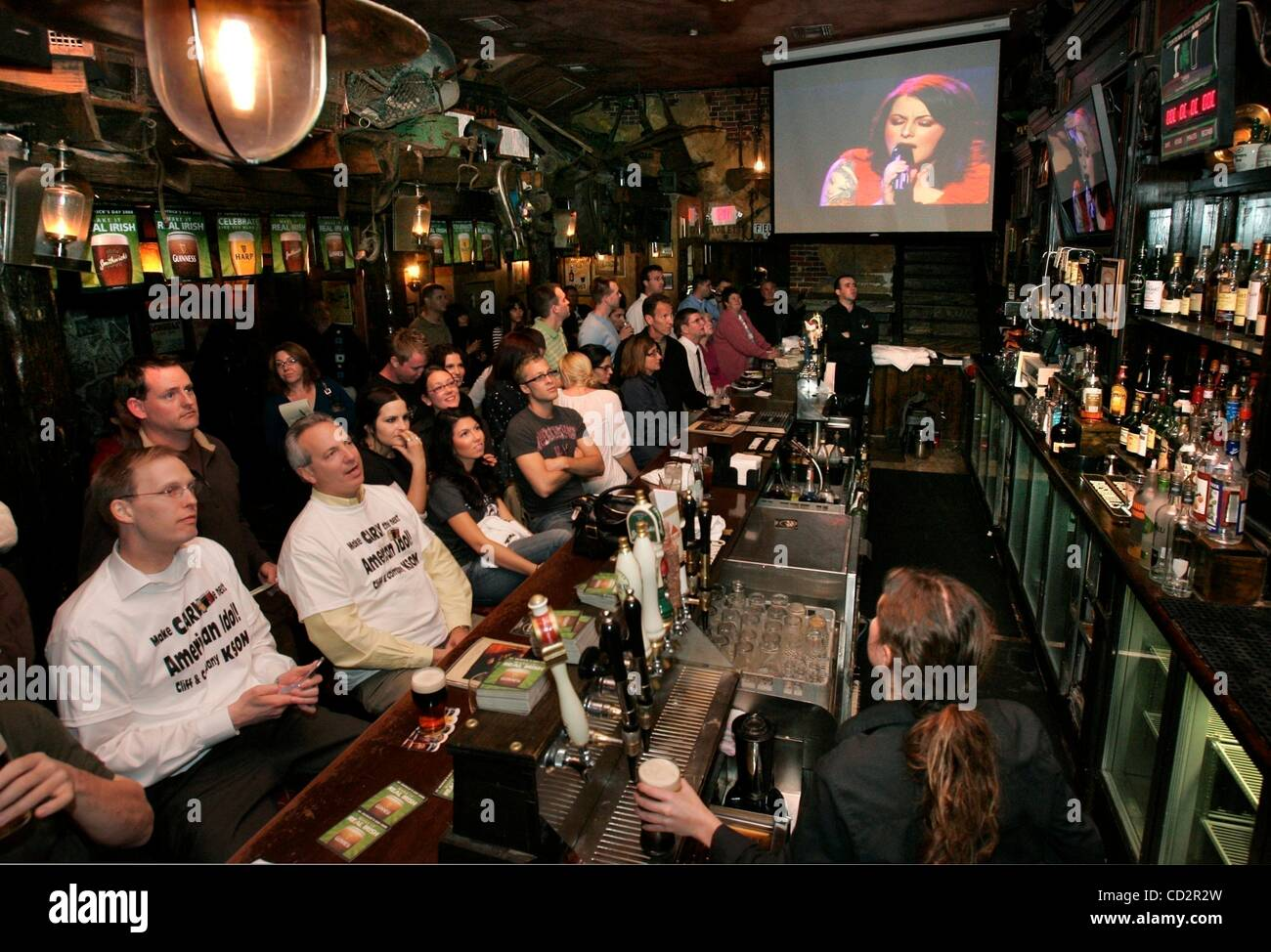 Mar 18, 2008 - San Diego, California, USA - At  The Field Pub in San Diego's Gaslamp District Carly Smithson is Stock Photo