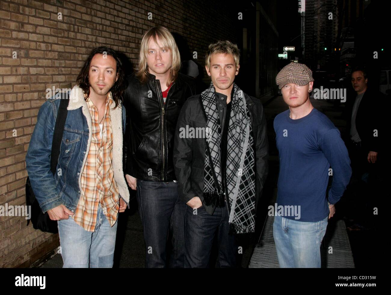 Apr. 1, 2008 - New York, New York, U.S. - GEFFEN RECORDING ARTIST, ''LIFEHOUSE'' LEAVING LIVE WITH - Stock Image