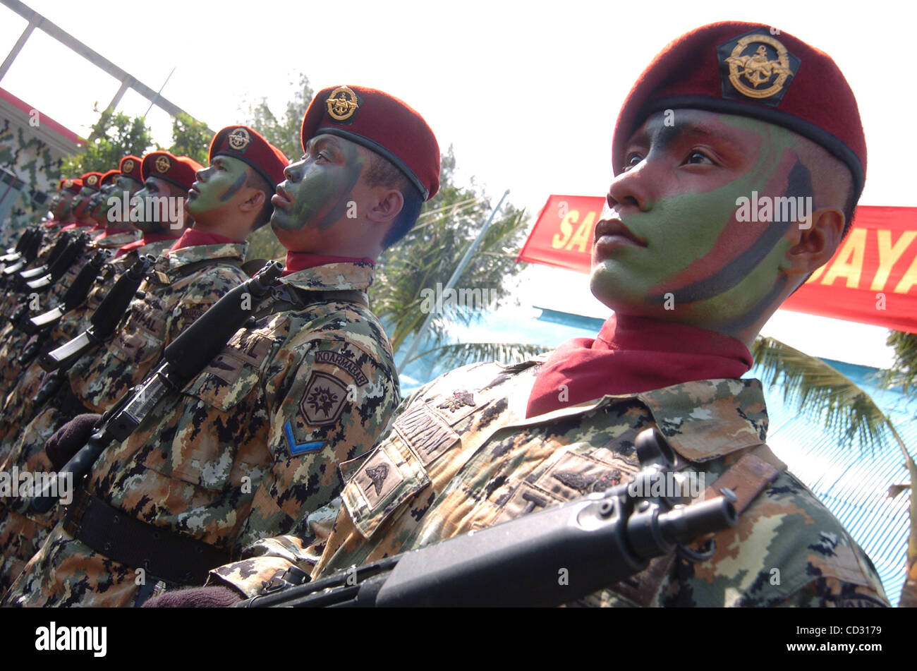 naval special warfare personel or kopaska stand in a formation