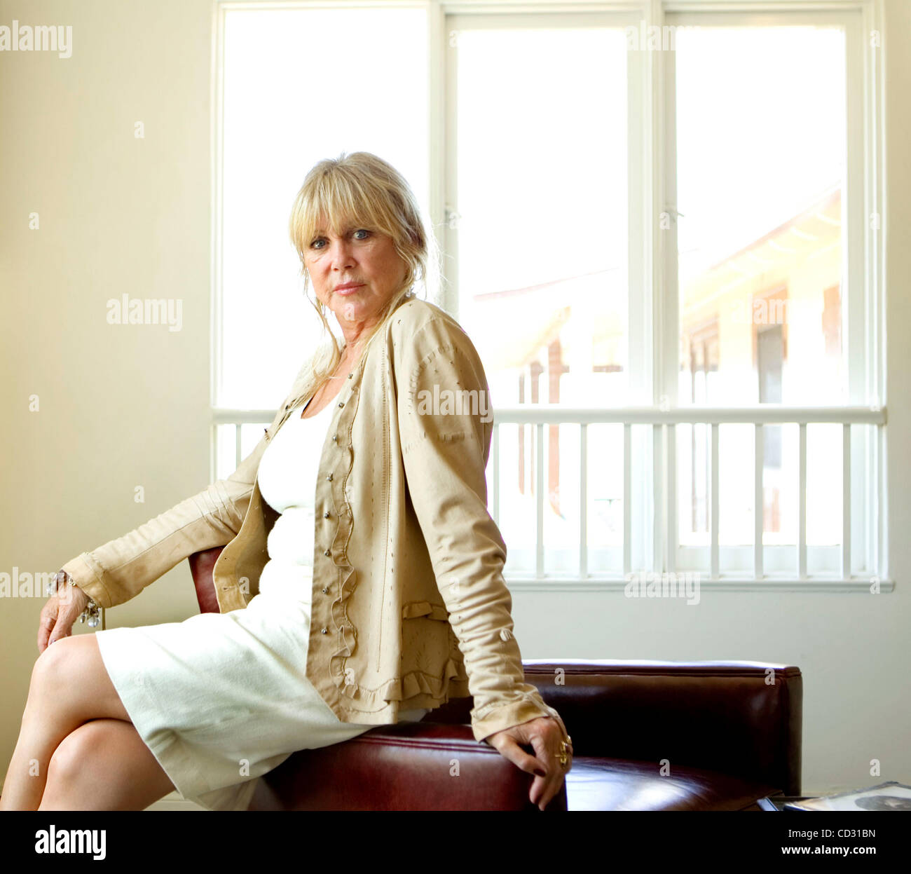 April 2, 2008, San Diego, California, USA_ PATTIE BOYD, author and photographer (and former wife of both George - Stock Image