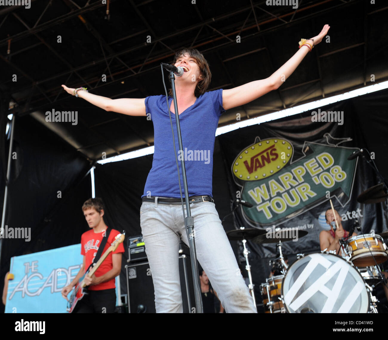 Jul 14, 2008 - Charlotte, North Carolina; USA - Musicians THE ACADEMY IS performs live as part of the 2008 Vans - Stock Image