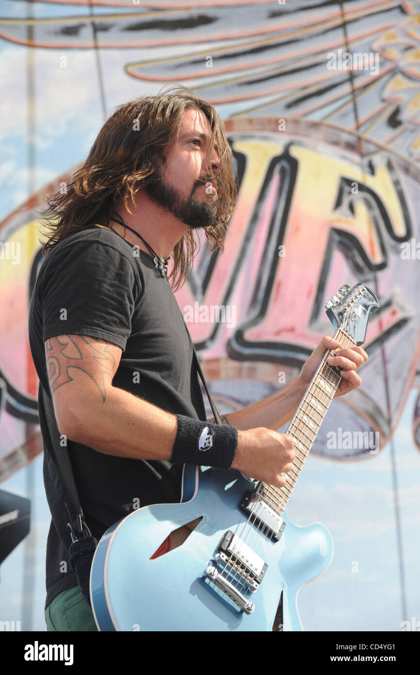 Oct 26, 2008-Pomona, California, USA-Musician DAVID GROHL of the Foo Fighters at Love Ride 25, Pomona Fairgrounds. - Stock Image