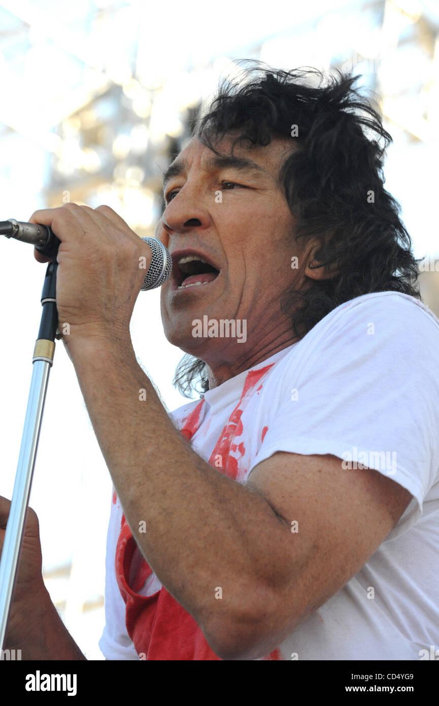 Oct 26, 2008-Pomona, California, USA-Musician FEE WAYBILL of The Tubes at Love Ride 25, Pomona Fairgrounds.  (Credit - Stock Image