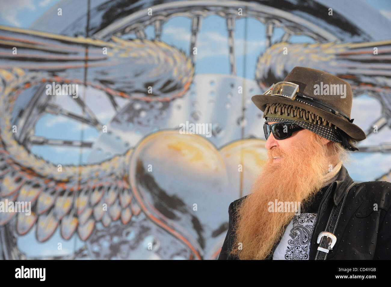 Oct 26, 2008-Pomona, California, USA-Musician BILLY GIBBONS of ZZ Top at Love Ride 25, Pomona Fairgrounds.  (Credit - Stock Image