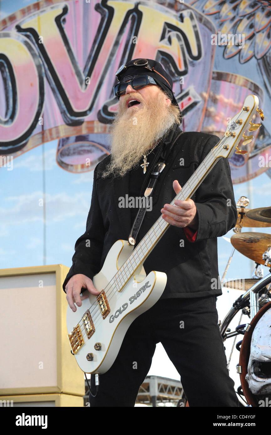 Oct 26, 2008-Pomona, California, USA-Musician DUSTY HILL of ZZ Top at Love Ride 25, Pomona Fairgrounds.  (Credit - Stock Image