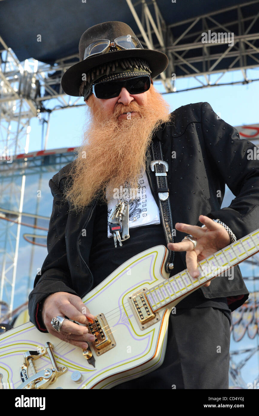 Oct 26, 2008-Pomona, California, USA-Musician BILLY GIBBONS of ZZ Top at Love Ride 25 held at the Pomona Fairgrounds. - Stock Image