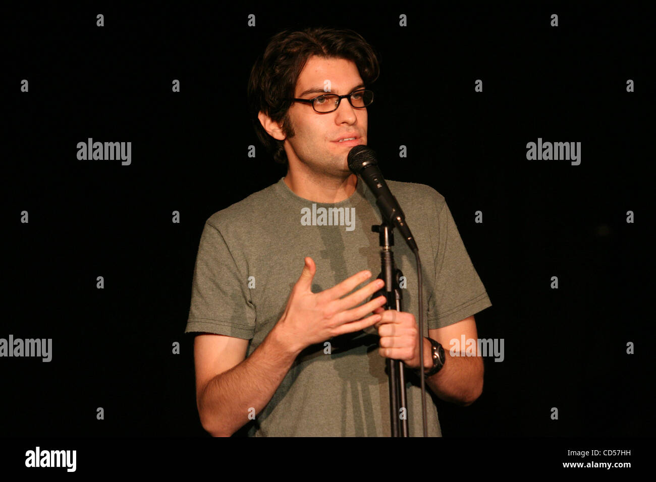 Dan Mintz made an appearance at the 'Hold for the Laughs' show at the Sage Theater in Manhattan Wed. 19, - Stock Image