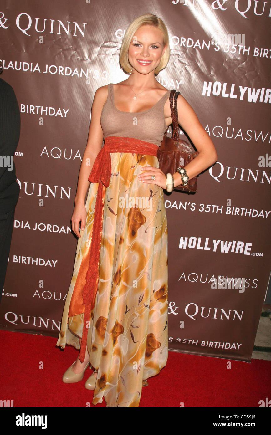 Apr. 13, 2008 - Hollywood, California, U.S. - I13169CHW.''CLAUDIA JORDAN'S 35TH BIRTHDAY BASH''.BOULEVARD3, - Stock Image