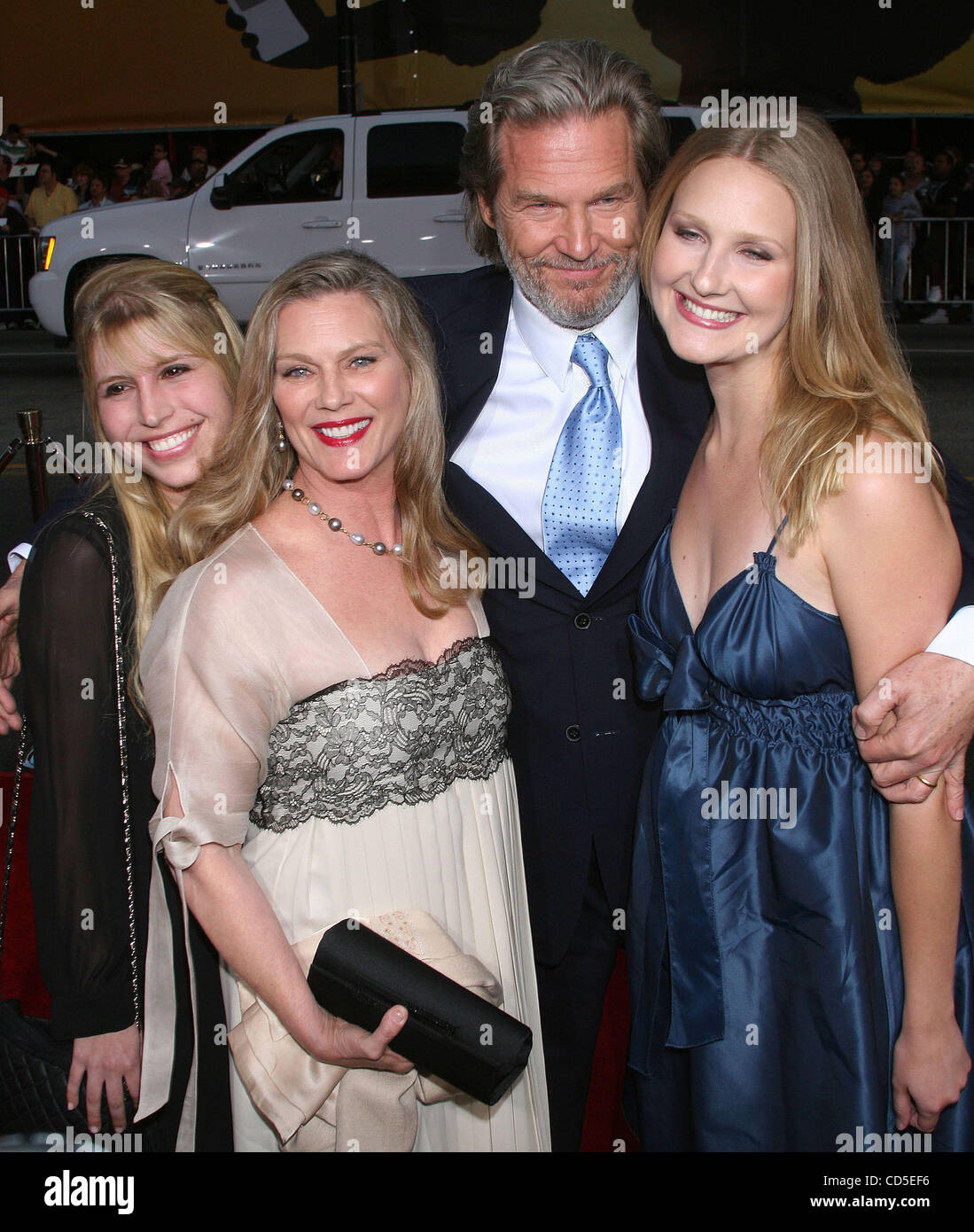 Actor Jeff Bridges and family at the Iron Man Premiere ...