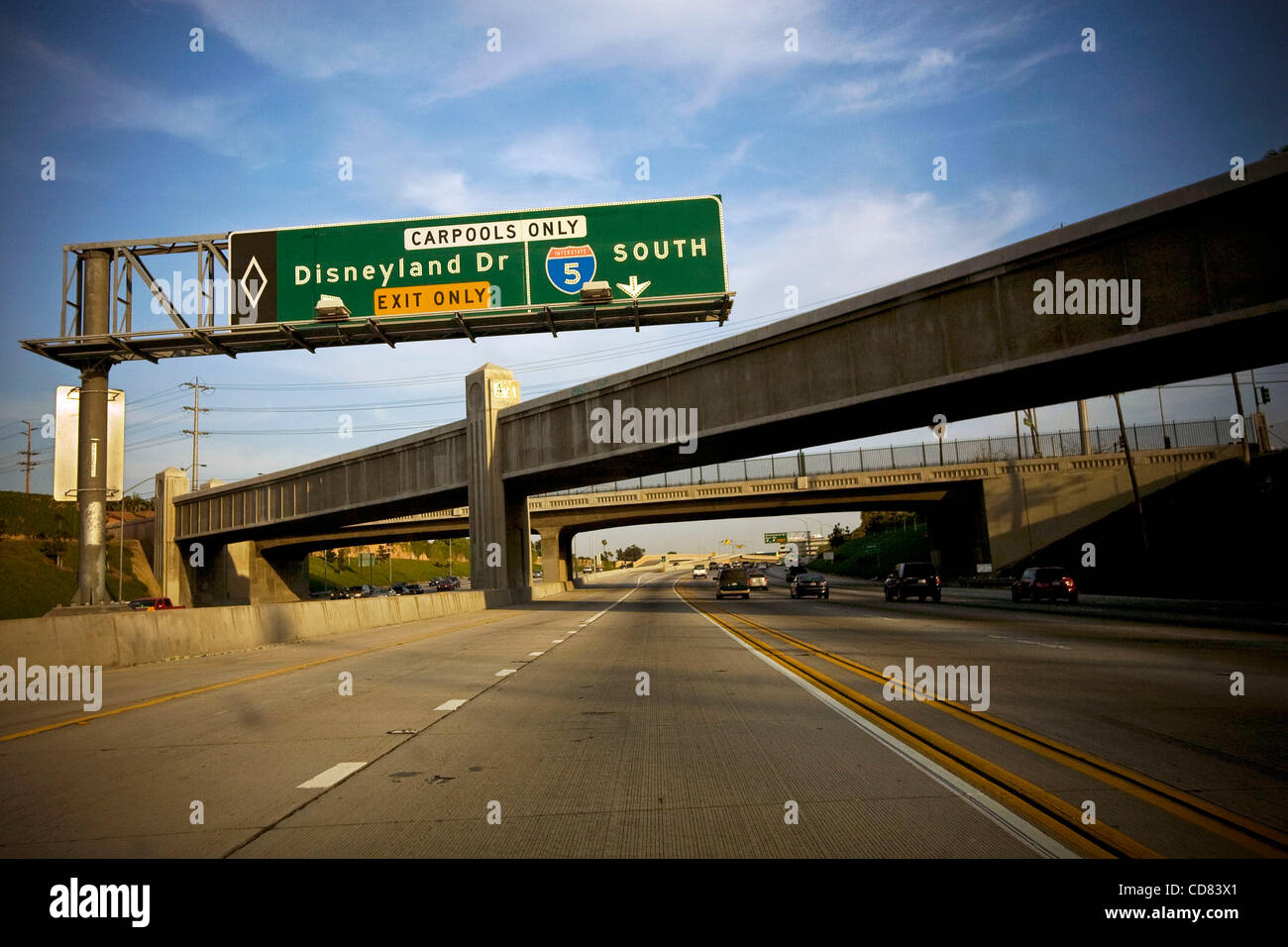 Apr 27 2008 Los Angeles California Usa Driving In The Carpool