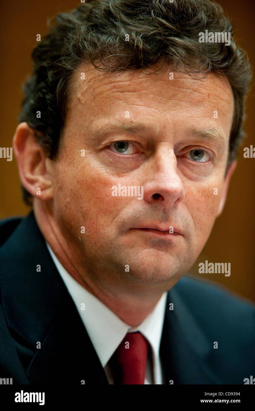 June 17, 2010 - Washington, District of Columbia, U.S. - TONY HAYWARD, CEO, of BP PLC, testifies before the Senate - Stock Image