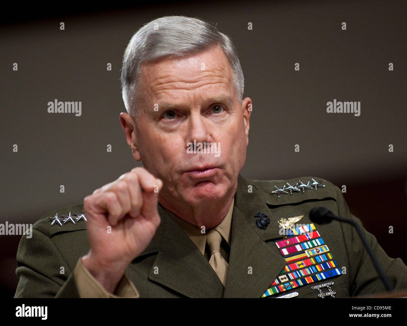 June 22, 2010 - Washington, District of Columbia, U.S., - Gen. James Amos, assistant commandant of the Marine Corps Stock Photo