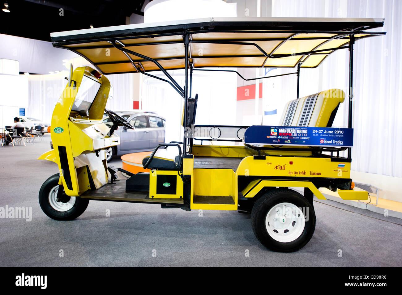 June 25, 2010 - Bangkok, Thailand - Thailand 1st solar powered auto ...