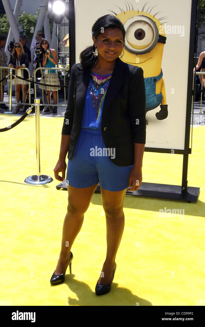 Jun 27 2010 Los Angeles California U S Actress Mindy Kaling Stock Photo Alamy