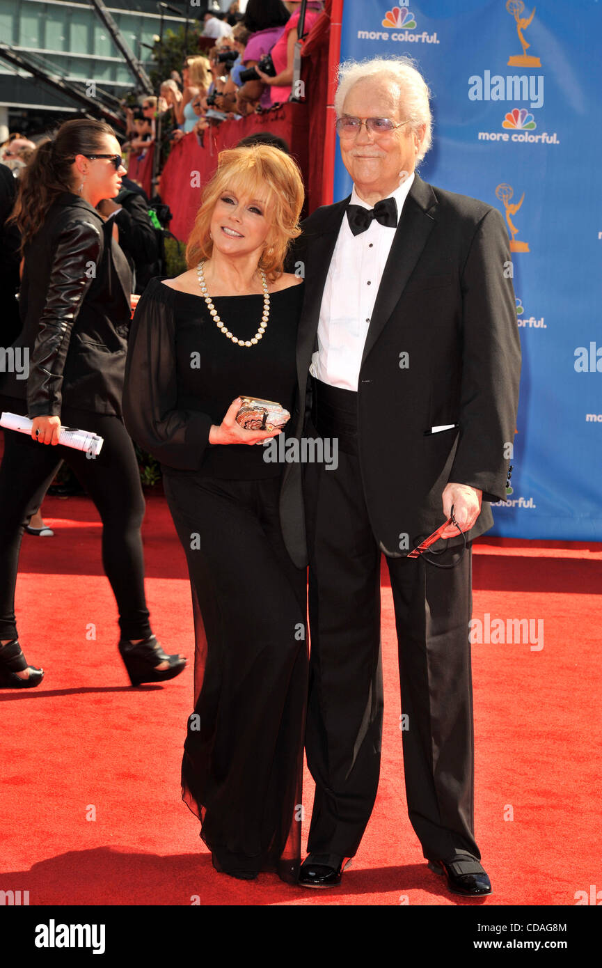 Aug 29, 2010 - Los Angeles, California, U.S. - ANN-MARGRET and husband ROGER SMITH arrives for the 62nd Primetime - Stock Image