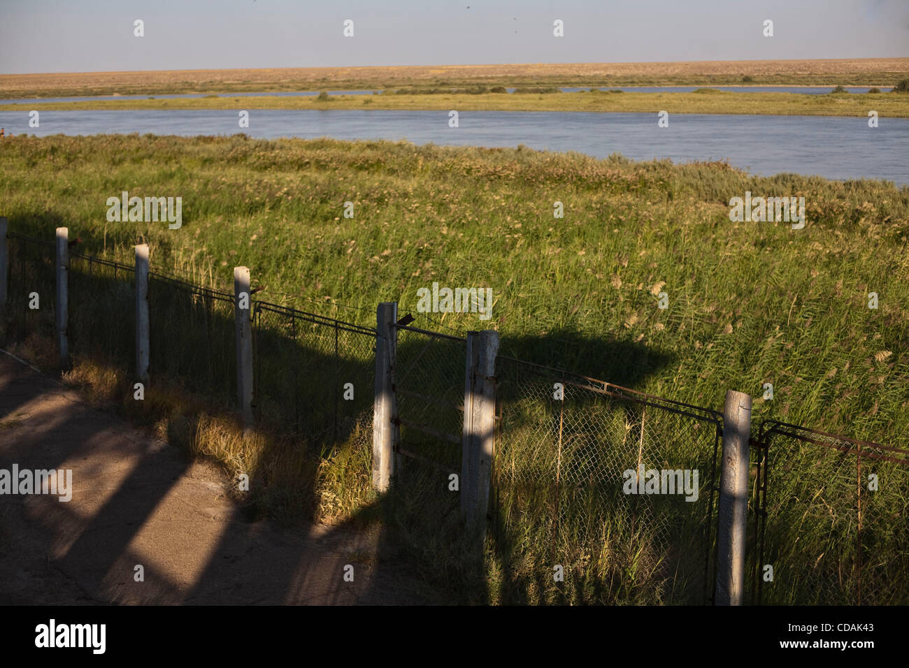 Sep 03, 2010 - Baikonur Cosmodrome, Kazakhstan - Summer house with its views of Syr Darya River, was the place where - Stock Image