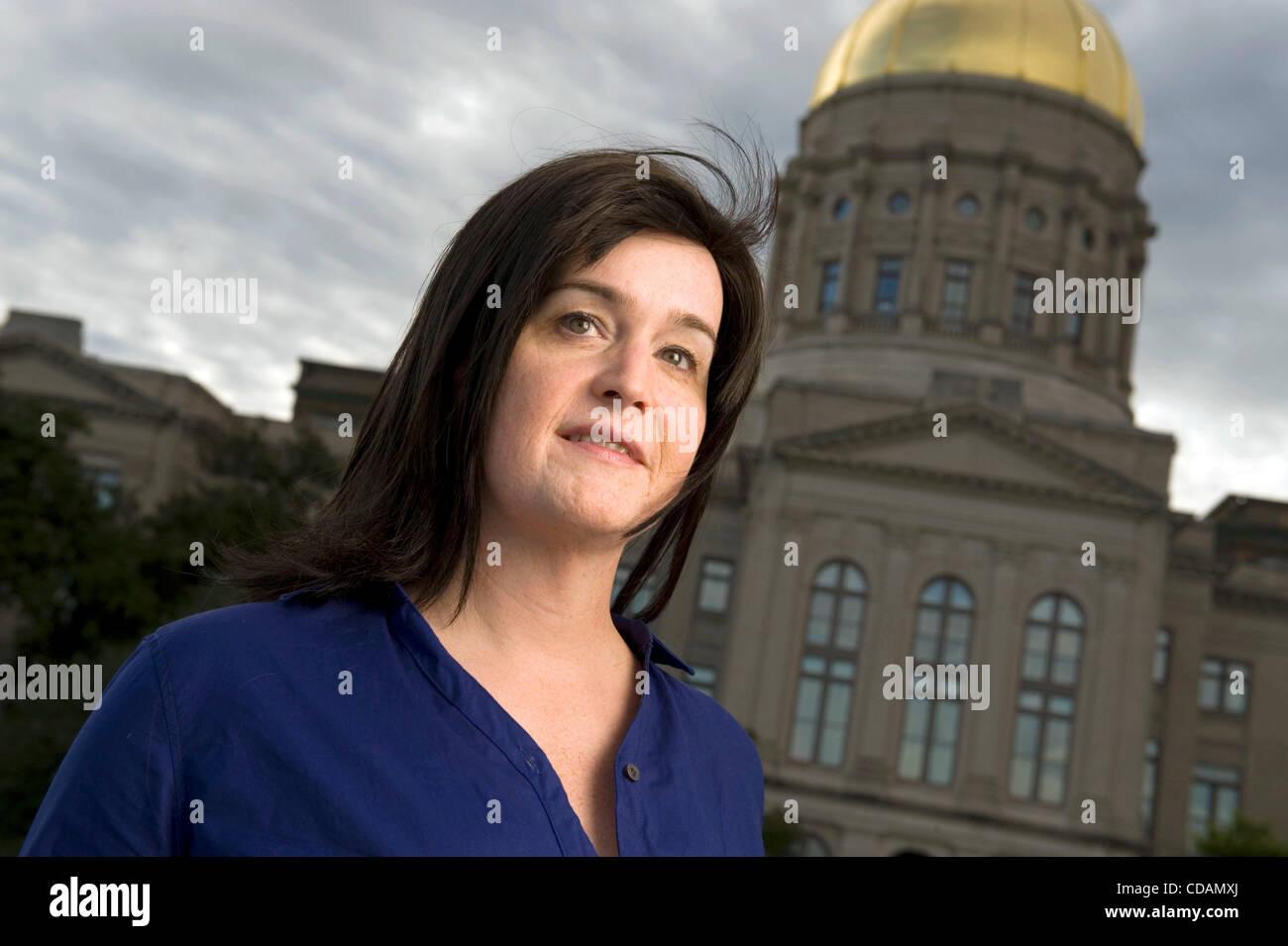 Sept 9, 2010 - Atlanta, Georgia, U.S. - VANDY BETH GLENN, a former Georgia state legislative editor who was fired - Stock Image