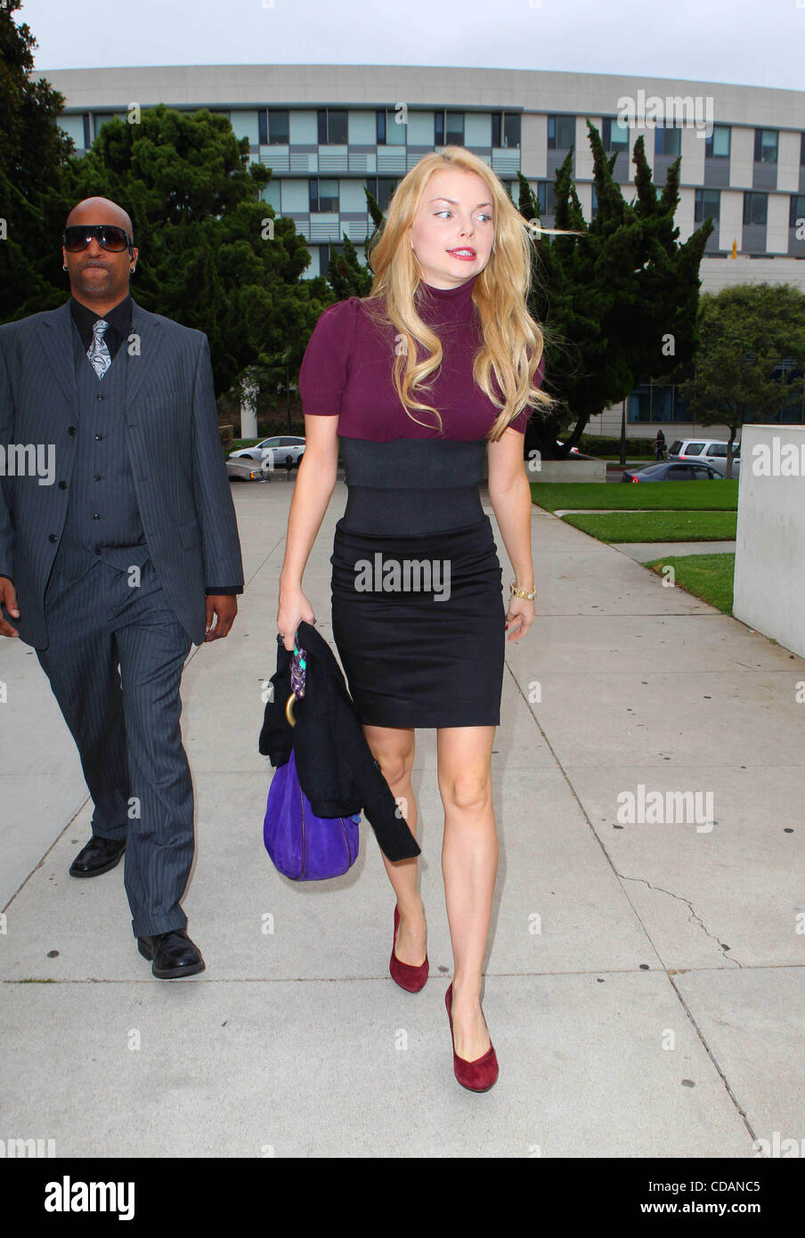 Sept. 9, 2010 - Los Angeles, California, U.S. - Izabella Miko gets a restraining order against her pervert stalker - Stock Image