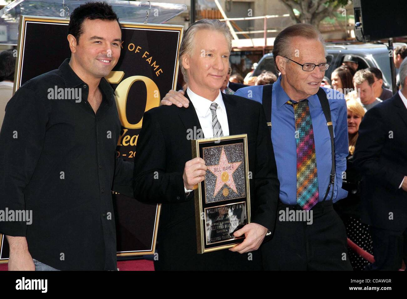 Sept. 14, 2010 - Hollywood, California, U.S. - I14774CHW .Bill Maher Honored With Star on The Hollywood Walk Of Stock Photo