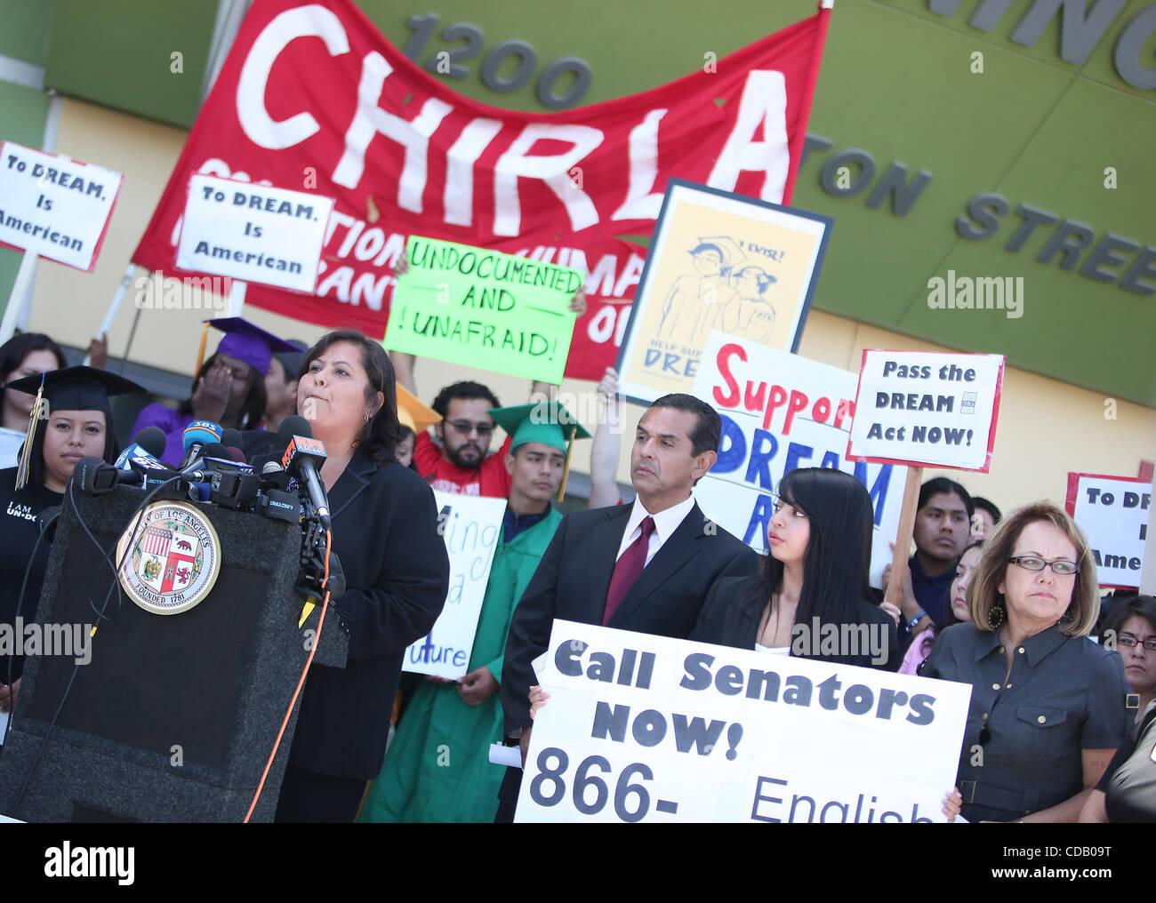 Sep 20, 2010 - Los Angeles, California, USA - Los Angeles Unified School District (LAUSD) President MONICA GARCIA - Stock Image