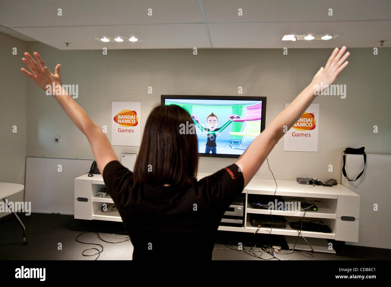 Dec. 6, 2010 - Santa Clara, California, U.S. - KATHERINE SCHILLING, 26, a Localization Specialist with Namco Bandai - Stock Image