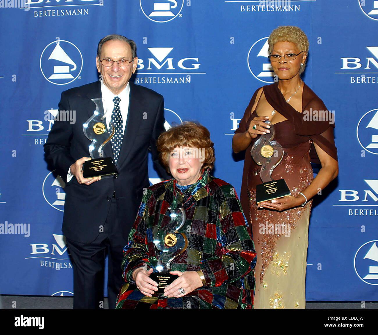Jan. 1, 2011 - New York, New York, U.S. - K28024RM  SD1211.HERO AWARDS .ROOSEVELT HOTEL, NEW YORKNew York.HAL DAVID, - Stock Image