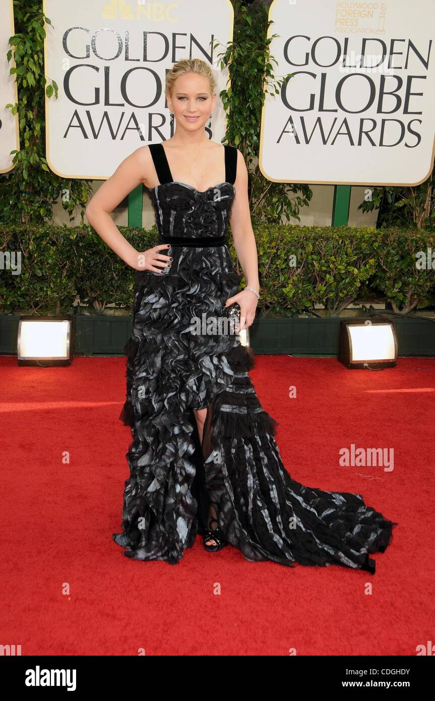Jan. 15, 2011 - Los Angeles, California, U.S. - Jennifer Lawrence .68TH ANNUAL GOLDEN    AWARDS (Arrivals).held - Stock Image