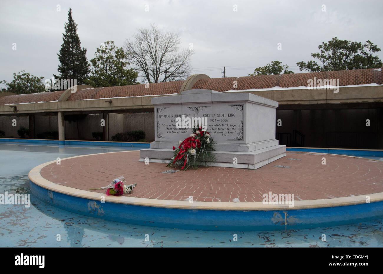 Jan 17 2011 Atlanta Georgia U S A Wreath And Flowers Adorn