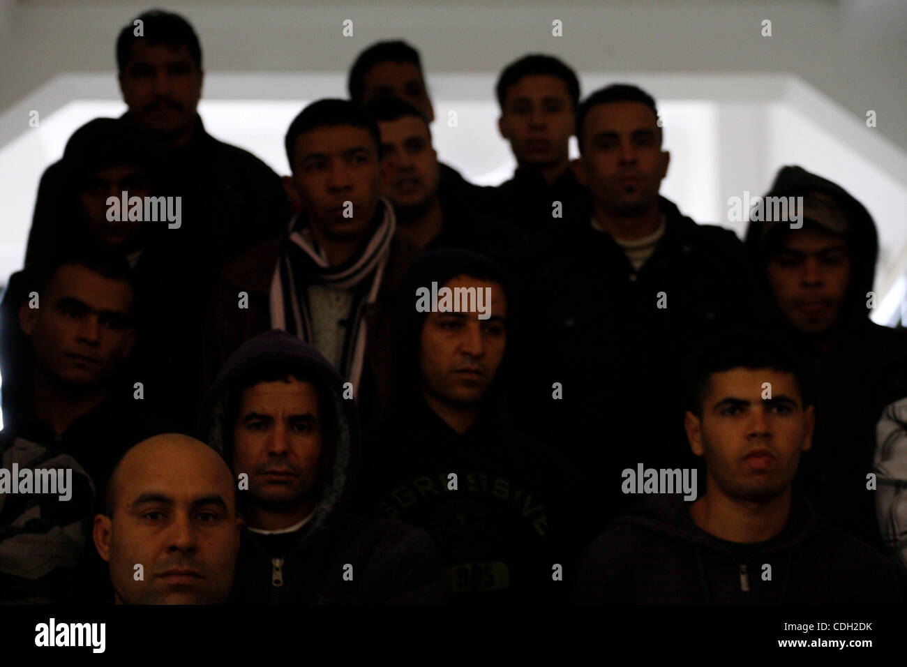 Jan. 25, 2011 - Athens, Greece - Immigrants give press conference. 300 immigrants who are employed in menial jobs - Stock Image