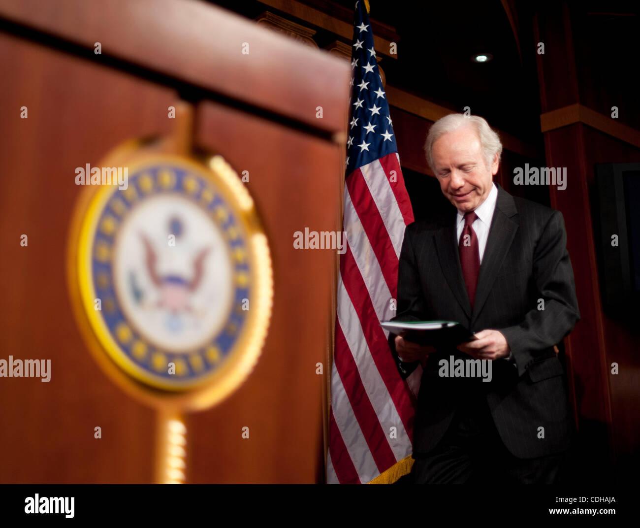 Feb 1, 2011 - Washington, District of Columbia, U.S. - Senate Homeland Security and Governmental Affairs Chairman Stock Photo