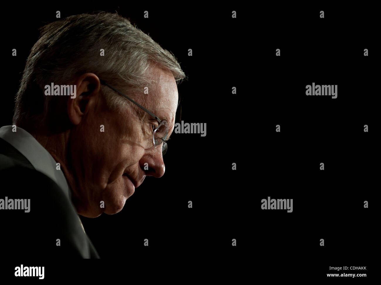 Feb 1, 2011 - Washington, District of Columbia, U.S. - The Senate Majority Leader HARRY REID (D-NV) during a press - Stock Image